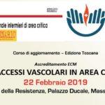 Gli accessi vascolari in area critica - 22/02/2019 Massa